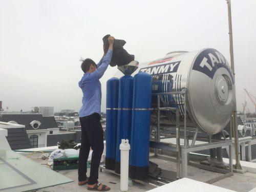 Lắp đặt hệ thống lọc thô tại An Lão Hải Phòng
